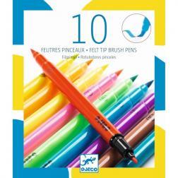 10 Feutres Pinceaux Djeco - Pop