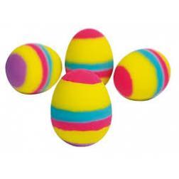 Balle rebondissant - Oeuf multicolore