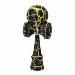 Bilboquet - Kendama Crackle - Jaune (boule 6 cm)