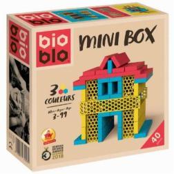 Bioblo - Mini Box - Jaune Rouge Bleu - 40 briques