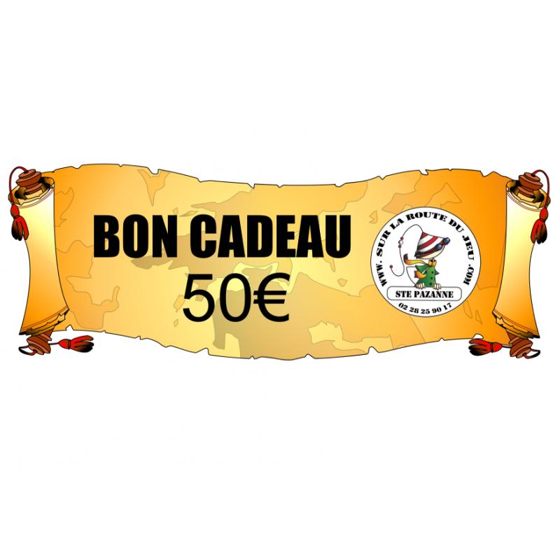 0Bon d'achat - Carte cadeaux de 50€