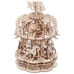 Caroussel petit modèle - Maquette 3D mobile en bois