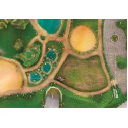 Carpeto - Tapis Petit Modèle : Royaume des Animaux (90x60 cm)