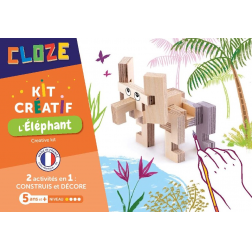 Cloze - Kit créatif : L'Eléphant