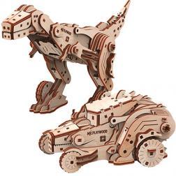 Dinocar - Maquette 3D mobile en bois
