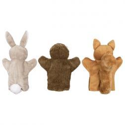 Marionnettes Lapin, Ecureuil & Hérisson (1 au choix)