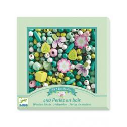 Perles en bois - Feuilles et Fleurs