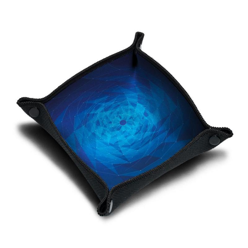 0Piste de dés néoprène - Blue Geometrix Vortex
