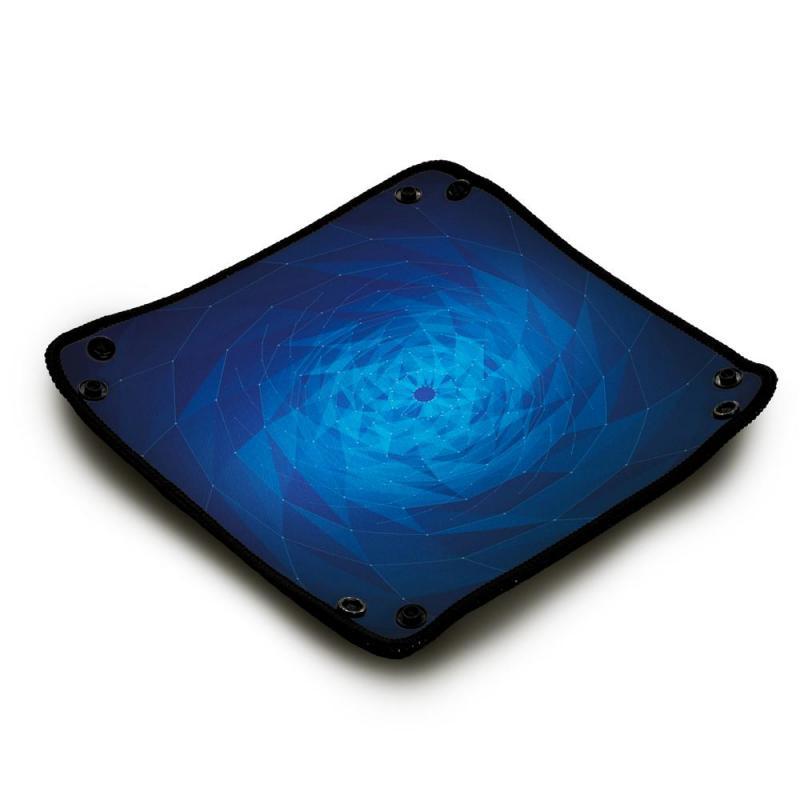 1Piste de dés néoprène - Blue Geometrix Vortex