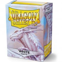 Protège Cartes 63x88mm : Dragon Shield - Standard - Mat Blanc (x100)