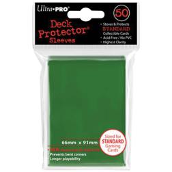 Protège Cartes 63x88mm : Ultra Pro - Standard Vert (x50) (Pokémon,...)