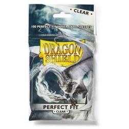 Protèges Cartes 63x88mm x100 : Dragon Shield - Perfect Fit - Clear