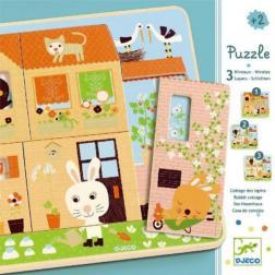 Puzzle bois 3 Niveaux - Chez Carot