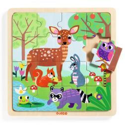 Puzzle en bois - Puzzlo Forest (16 pcs)