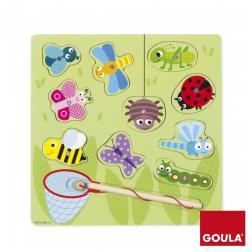 Puzzle magnétique - Chasse aux insectes (bois)
