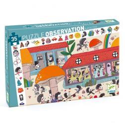 Puzzle Observation - L'école des hérissons (35 pcs)