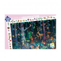 Puzzle Observation - La forêt enchantée (100 pcs)