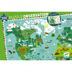 Puzzle Observation - Tour du Monde - (200 pièces + 1 livret)