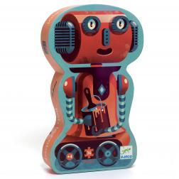 Puzzle Silhouette - Bob le robot (36 pcs)
