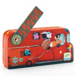 Puzzle Silhouette - Camion de Pompiers (16 pcs)