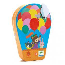 Puzzle Silhouette - La montgolfière (16 pcs)