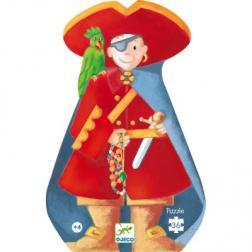 Puzzle Silhouette - Pirate et son Trésor (36 pcs)