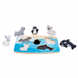 Puzzle tactile animaux polaires