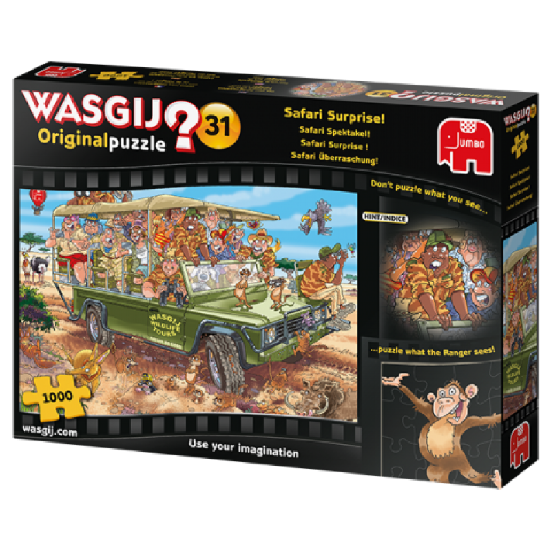0Puzzle Wasgij ! Original 31 - Safari Surprise! (1000 pcs)