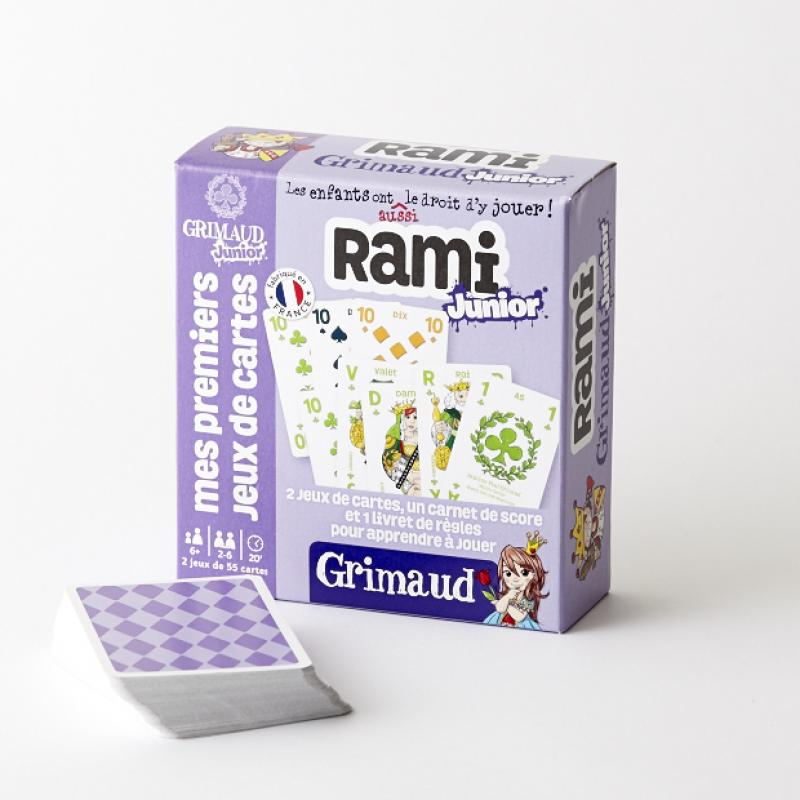 0Rami Junior - 2 jeux de 55 cartes