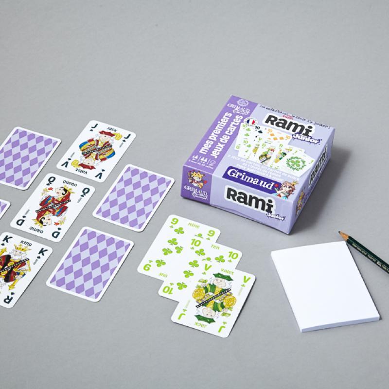 1Rami Junior - 2 jeux de 55 cartes