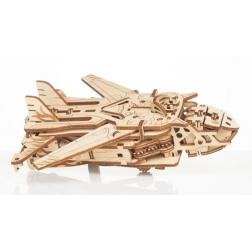 Robot-Avion Transformeur - Maquette 3D mobile en bois