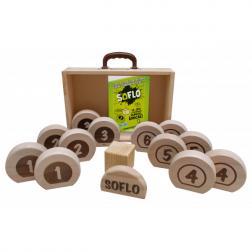 Soflo - Jeu de palets en bois avec caisse de transport