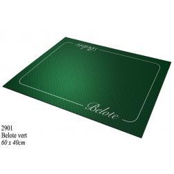 Tapis 40x60 - Belote Néprène Vert - Coeur de Pique Excellence