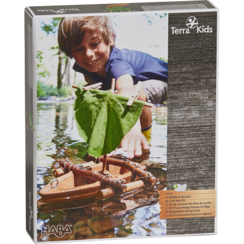0Terra Kids - Kit d'assemblage Bateau en liège