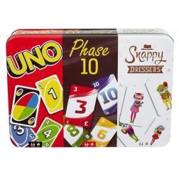 Uno - Phase 10 - Snappy Dressers (Coffret boite métal)